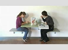 Eureka Mfg's wall mounted Table and Chairs YouTube