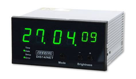 disnet time date display ntp synchronized reference