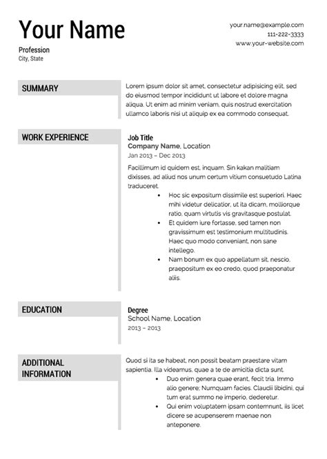 Resume Downloads by Free Resume Templates Free Templates Resume Free