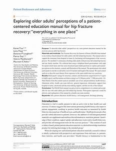 Pdf  Exploring Older Adults U2019 Perceptions Of A Patient