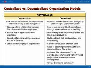 Centralization versus Decentralization Evolution of BMO's ...