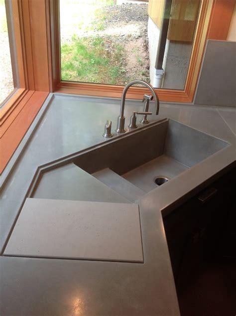 Integral Concrete Kitchen Sink  Contemporary  Kitchen