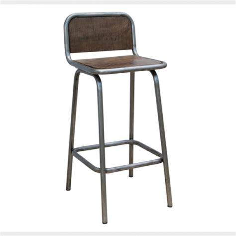 bar chair industrial bar stool with back