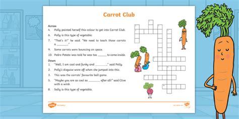 * New * Carrot Club Crossword  Originals, Fiction, Ks1, Healthy Eating Week