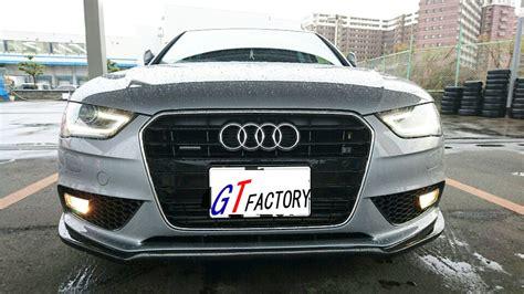 audi a4 b8 facelift new for audi a4 b8 facelift carbon front lip spoiler p