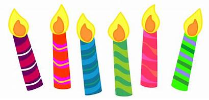 Candle Birthday Clipart Cake Classroom Candles Clip