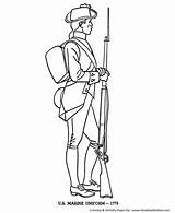 Coloring Revolutionary War Soldier British American Forces Armed Template Sketch Printablecolouringpages Larger Credit Popular sketch template