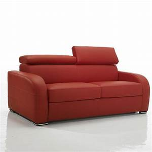 Canape convertible rouge meubles et atmosphere for Canape convertible avec tapis original