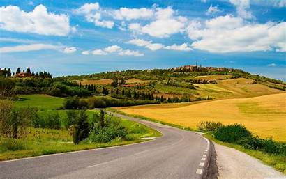 Sunny Road Country 4k Desktop Wallpapers