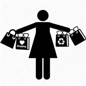 Bags, business, girl, mall, people, shopper, shopping icon ...