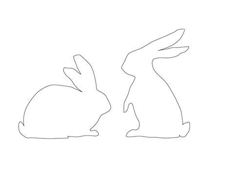 bunny template printable chet pourciau design last minute easter diy s
