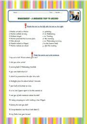 listening comprehension exercise with audio link and
