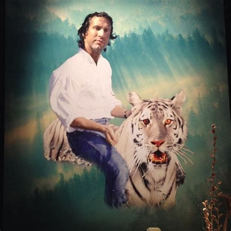 painting  chevy chase riding  white tiger community