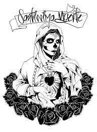 Santa Muerte Tattoo Drawing at GetDrawings | Free download