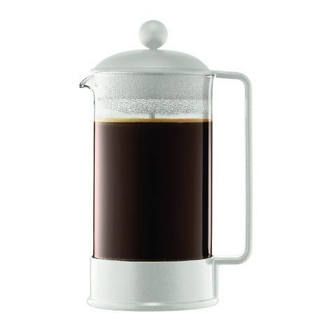 Except for chrome or matte chrome finish; Bodum french press coffee maker instructions