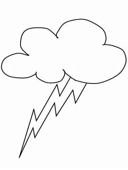Lightning Coloring Pages Nature Bolt Cloud Lightning2