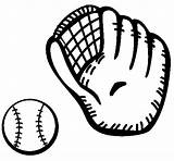Baseball Glove Ball Coloring Mitt Owen Colored Coloringcrew Clipart sketch template
