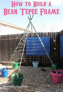 How to Build a Green Bean Tepee - Happiness is Homemade