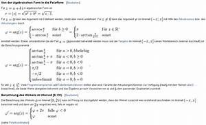 Zahl Pi Berechnen : polarform wie kann man die polarform berechnen mathelounge ~ Themetempest.com Abrechnung