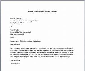 business purchase letter of intent the best letter sample With letter of intent to buy a business template