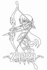 Archer Coloring Mysticons Zarya Getdrawings Getcolorings sketch template