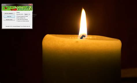 Candles Animated Wallpaper - candle animated desktop wallpaper 1 0 0