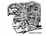 Mayan Aztec Coloring Drawing Symbols Inca Maya Drawings Pages Simple Tattoos Ancient Ruins Mexican Calendar Mayans Clipart Masks Arte Tes sketch template