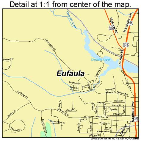 Eufaula Alabama Street Map 0124568