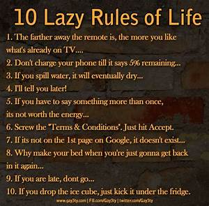 10 Lazy Rules of Life   Be Merry   Pinterest