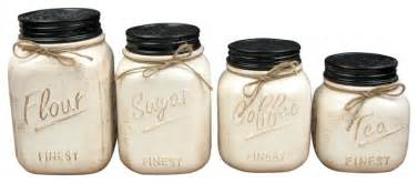 oggi kitchen canisters ceramic canisters set of 4 white rustic kitchen