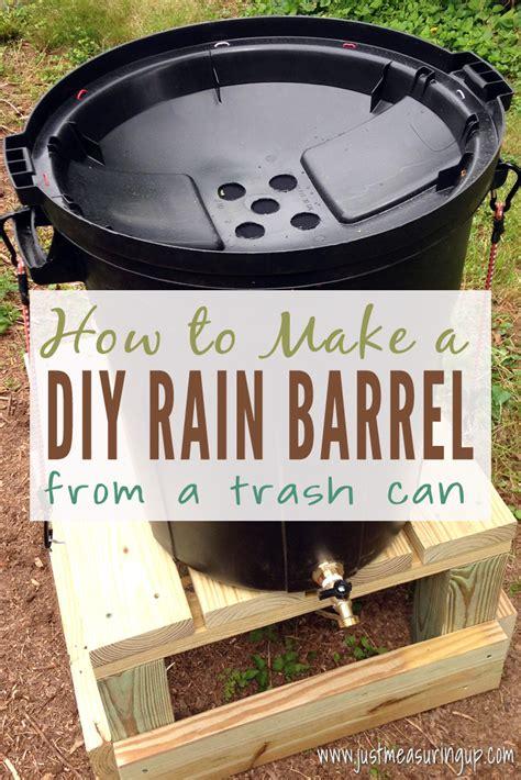 diy rain barrel  green   conserve water