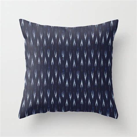 Miller Home Decorative Pillows by Indigo Ikat Pillow Pillowsbyelissa In Gq Indigo Navy
