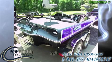Purple Bass Boat by Unavailable Used 2005 Gambler 2200 Dc Bass Boat In