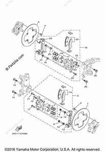 Yamaha Side By Side 2016 Oem Parts Diagram For Front Brake