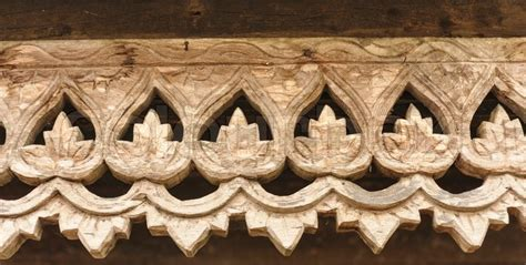 Buy Thai Wood Carving Wall Art Panel Asian Home Decor Online: Carved Wooden Lattice Work With Thai Style Pattern Art