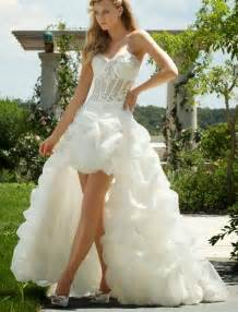 wedding dresses high low rainingblossoms popular high low wedding dresses are charming
