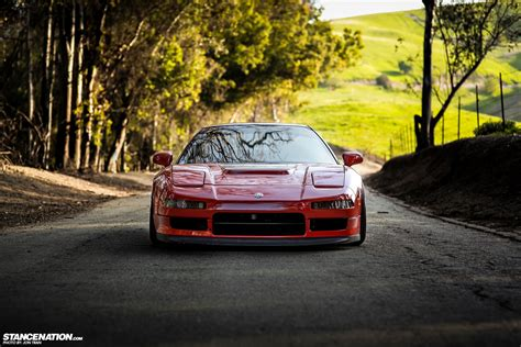 stanced cars flush stanced acura honda nsx nsx transformation