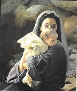 Christian prints Mary Baby Jesus Mother Child Liz Lemon ...