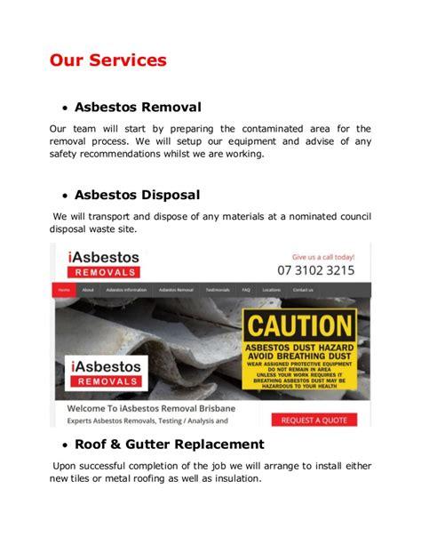 company profile  asbestos removal brisbane