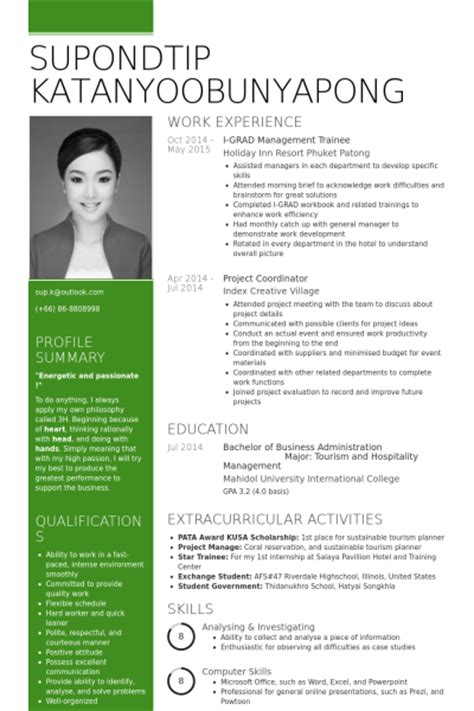 management trainee resume sles visualcv resume
