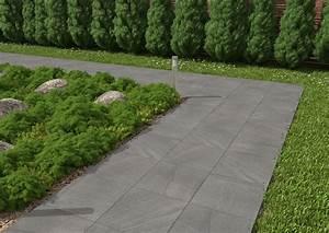 Carrelage Clipsable Exterieur : dalle pietra carrelage ext rieur 2 cm gris anthracite ~ Premium-room.com Idées de Décoration