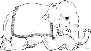 dibujo de elefante de circo  colorear dibujos  colorear imprimir gratis