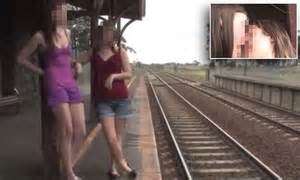 Lesbian Amateur Porn Movie Filmed At Train Station In Victoria Daily Mail Online