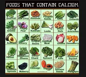 CALCIUM CONTAINING FOODS