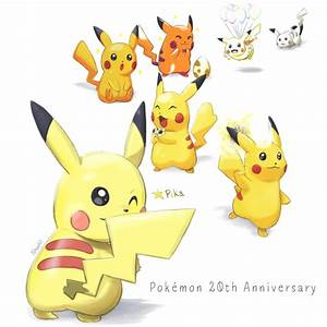 Pokemon 20th Anniversary - Pikachu by LeBovaro on DeviantArt