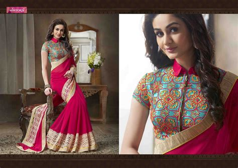 15 Latest Saree Blouse Designs With Different Blouse Neck