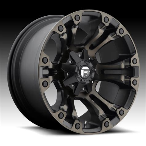 Fuel Vapor D569 Matte Black Machined W Dark Tint Custom