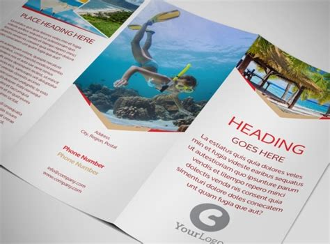 Travel Brochure Template 3 Fold by Travel Brochure Template 3 Fold Bbapowers Info