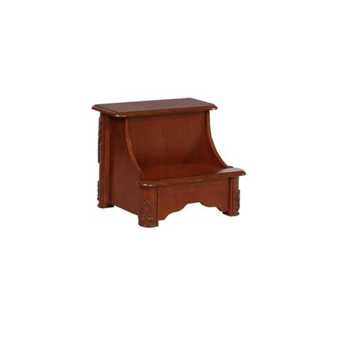 Bed Risers Lowes by Shop Powell 1 17 25 In Mahogany Wood Bed Riser At