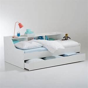 Lit banquette avec tiroir et rangementspalma blanc la for Deco chambre enfant avec achat matelas latex 90x190